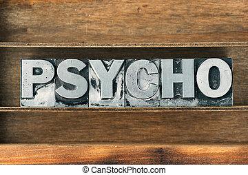 palabra, psicópata, bandeja