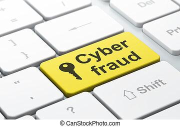 palabra, render, protección, teclado, seleccionado, foco, cyber, botón, llave computadora, entrar, fraude, icono, concept:, 3d