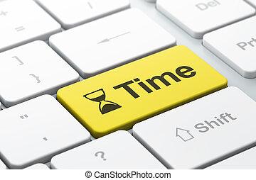 palabra, render, teclado, timeline, seleccionado, reloj de arena, foco, botón, tiempo, computadora, entrar, icono, concept:, 3d
