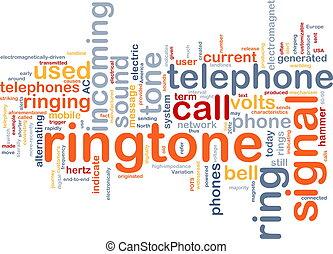 palabra, ringtone, nube