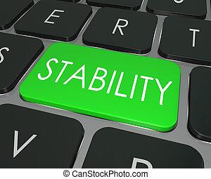 palabra, seguro, seguro, opción, estabilidad, llave ...