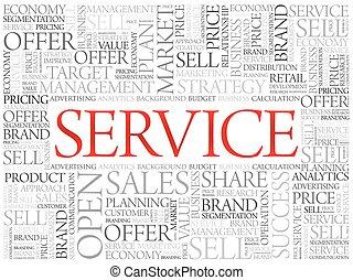 palabra, servicio, nube
