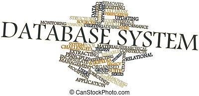 palabra, Sistema, nube, base de datos