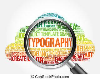 palabra, tipografía, nube