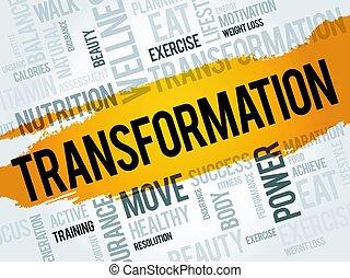 palabra, transformación, nube