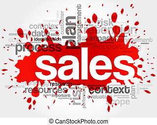 palabra, ventas, nube