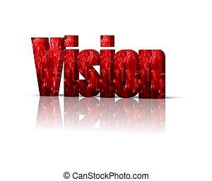 palabra, visión, 3d
