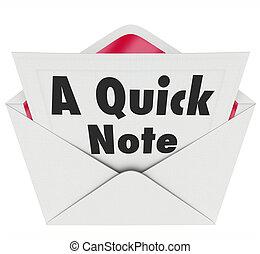 palabras, actualización, nota, carta, rápido, noticias, mensaje