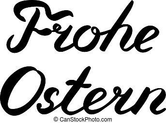 palabras, frohe, ostern., pascua feliz, en, german.