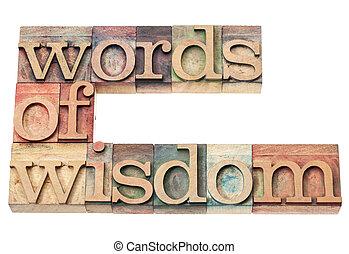 palabras, sabiduría
