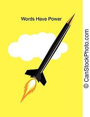 palabras, tener, potencia