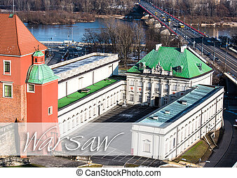 palac pod blacha - beautiful view of the center of Warsaw...