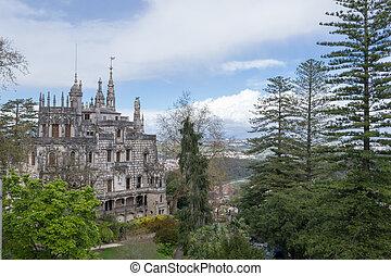 Palace at Quinta da Regaleira in Sintra - Quinta da...