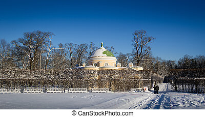 Palace at winter