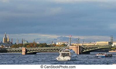 Palace Bridge and Kunstkamera, Saint Petersburg, Russia