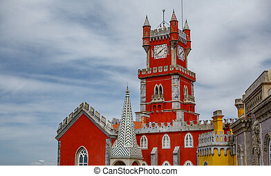 Palace da Pena tower against sky