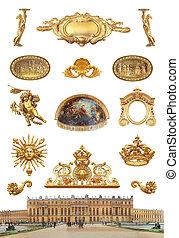 Palace de Versailles.  -  isolation Versailles palace France