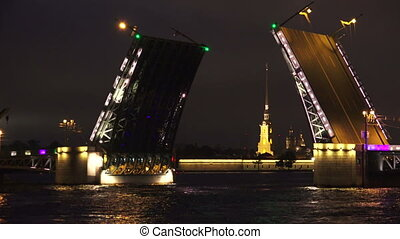 Palace drawbridge. Saint-Petersburg.