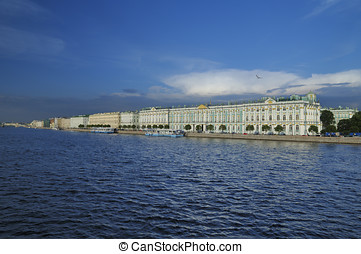 Palace embankment in St. Petersburg