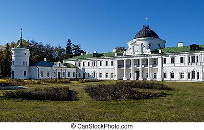 Palace facade fragment in the estate Kachanovka Chernigov region Ukraine