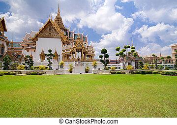 palace., grandiose, royal, thaïlande