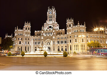 Palace in Madrid - Central Post Office - Palacio de...