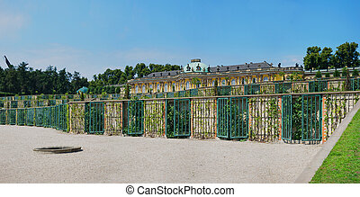 Palace In The Garden Of Sanssouci.