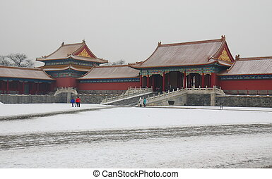 Palace in the snow