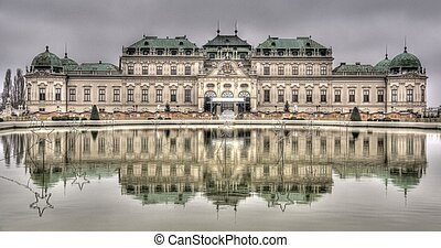 Palace in water reflection Viewnna europe tourism and travel