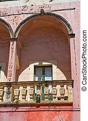 palace., italy., historische , puglia., specchia.
