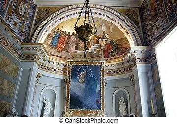 Palace of Ahilleo, island Corfu, city of Corfu, Ionian sea,...