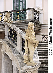 Palace of Esterhazy - Statues in the Palace Esterhazy in...