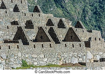 Palace of the princess Machu Picchu, Incas ruins in the...