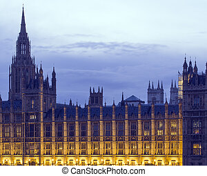 Palace of Westminster and Abbey towers