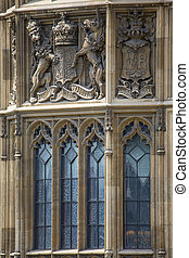 Palace of Westminster Architecture - A close-up shot of the...