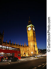 Palace of Westminster at Night - Palace of Westminster, seen...