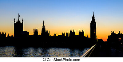 Palace of Westminster  at Sunset, Westminster , London.