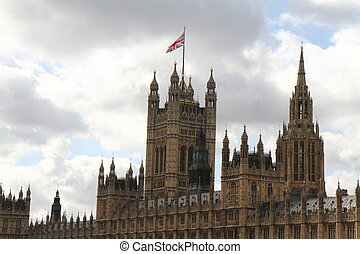 Palace of Westminster on a cloudy day