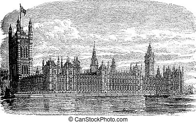 Palace of Westminster or Houses of Parliament in London...