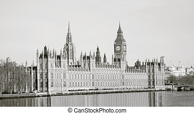 Palace of Westminster seen from South Bank