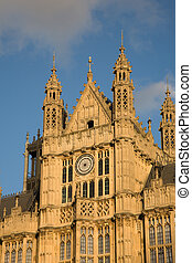 Palace of Westminster seen from Victoria Garden