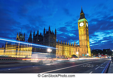 Palace of Westminster with Big Ben seen from Westminster...