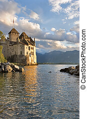 Palace on lake
