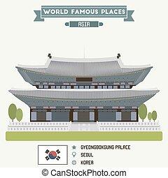 palace., seúl, corea, gyeongbokgung
