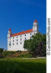 Palace (XVIII c.) of Bratislava Castle - Side view of the...