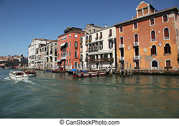 Palaces Accademia Venice - view at the palaces on the Grand ...