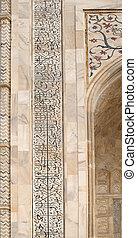 palaces), fachada, banco, mughal, india, taj mahal, yamuna, ...