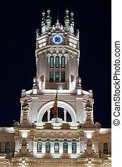 Palacio de Cibeles - Facade of the Palacio de Cibeles,...