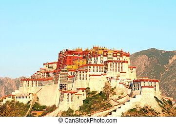 palacio de potala, tibet, lhasa, marca famosa