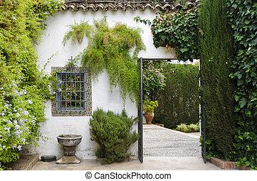 Palacio de Viana - Typical Andalusian patio - Door leading...